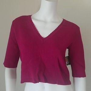 New Rachel Roy Pink Crop Top Large #P17